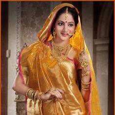 Yellow  Pure Banarasi Silk Saree with Blouse