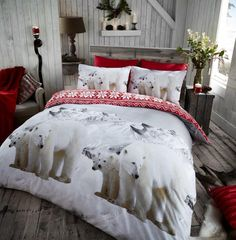 POLAR Flannelette Printed Duvet Cover Bedding Set