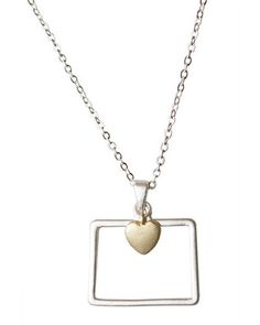 Colorado state pendant necklace — Cents Of Style. Colorado is a funny state..no one would figure this is colorado unless it was said :-)