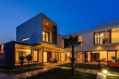 Architecture Home Design Residence Two Storey House Lamp Lighting Plant Courtyard Architecture Modern Interior House Plans Contemporary Designer Decoration Night Glass modern-architects-residence-two-storey-house-lamp-roadside-lighting-plant-inspiration-architecture-homes-#architect-#home-design-contemporary-house-granite