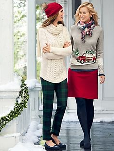 Talbots - Holiday Tree & Car Sweater | | Misses Discover your new look at Talbots. Shop our Holiday Tree & Car Sweater for stylish clothing and accessories with a modern twist at Talbots