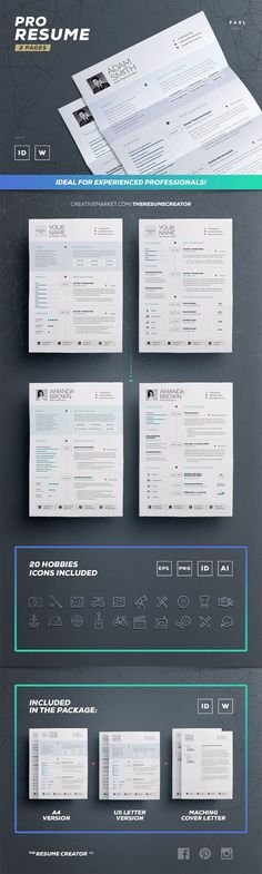 Clean Resume/Cv Template n1 - Amanda by TheResumeCreator on - resume for job