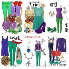 Fun princess ariel dress up and outfit inspiration #7