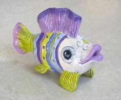"For sale on Etsy by ""ceramicsartdaniel"" Ceramic Fish"