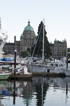 Victoria, BC....moored the catamaran in this precise location once upon a time.