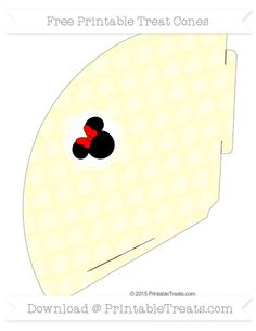 Free Cream Heart Pattern  Minnie Mouse Treat Cone
