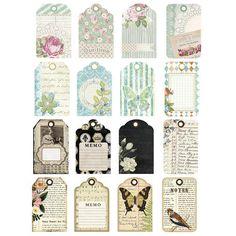 Lot étiquettes vintage - http://www.instemporel.com/s/12597_224038_ensemble-de-24-etiquettes-vintage #wedding #birthday #baptism #babyshower