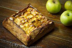 Una tarta de manzana diferente, con un toque rústico que la hace muy apetecible.