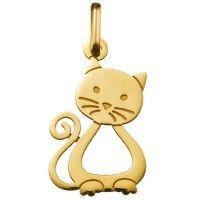 Une adorable chat en or jaune