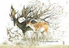 Beautiful Watercolor Animal Illustrations by Luqman Reza Mulyono http://designwrld.com/beautiful-watercolor-animal-illustrations-by-luqman-reza-mulyono/