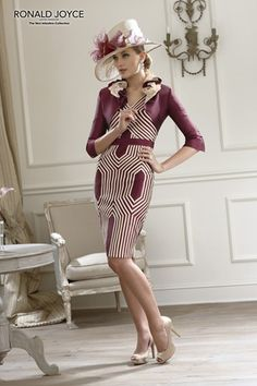 A striking formal daywear design from Veni Infantino by Ronald Joyce.
