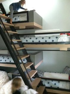bunk beds for everyone. wow