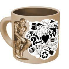 Thinker Mug, $12.50, now featured on Fab.