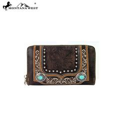 Montana West Concho Collection Wallet (MW252-W003) – Handbag-Addict.com