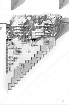 """Carlo BAILEY & Lorenzo VILLAGGI,  """"Eidos: or, When Desire Becomes Matter.""""  Oblique section. new york NEW YORK"""