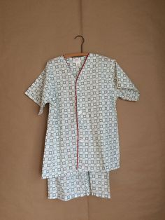 vintage 70's deadstock pajama set / nightshirt and shorts / never been worn /  NOS / by yellowjacketvintage on Etsy