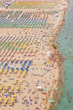 """""""Aerial Views Adria"""" Rimini Beach, Italy"""