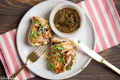 Skillet Sun-dried Tomato and Basil Stuffed Chicken - Wholesomelicious