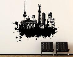 Was magst du an Berlin?   #Wandtattoo #Berlin #Streetart #Fernsehturm #BrandenburgerTor