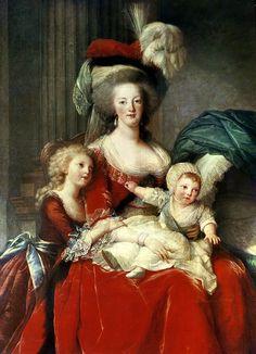 Marie-Antoinette (1787) Elisabeth Louise Vigee-Lebrun Collect //Marie Antoinette's female portrait artist
