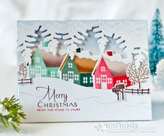 Merry Christmas Card by Betsy Veldman for Papertrey Ink (September 2016)