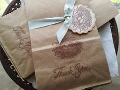 Bird Nest Favor Bags Brown Paper Set of 10 by LazyDayCottage, $5.95