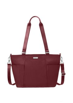 "Baggallini Medium Avenue Tote •	Lightweight, water-resistant nylon •	Removable wristlet included •	Interior organization and multifunctional pockets •	Quick-access phone pocket •	52"" Removable, adjustable crossbody strap •	21"" Shoulder strap •	15"" (W) x 9.5"" (H) x 4.5"" (D)"