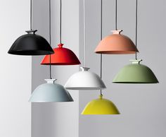 cool lighting. could diy with bowls and spray paint in an AWESOME color pallet.