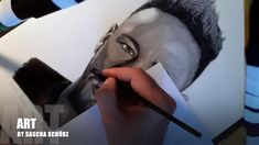 Drawing Neymar Jr Júnior Brazil realistic Pencil and Charcoal Portrait by Sascha Schürz Drawing Sketches, Pencil Drawings, Drawing Tutorials For Beginners, Charcoal Portraits, Neymar Jr, Cartoon, 3d, Black And White, Awesome