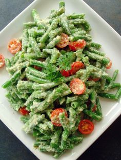 This recipe for Green Beans in Dill Walnut Sauce is different, quick and delicious. The dill walnut sauce is perfect, adding fresh lemon juice, walnuts, scallions, dill and parsley to light olive oil.