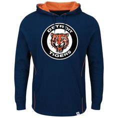 Detroit Tigers Majestic Cooperstown Left/Righty Pullover Hoodie - Navy