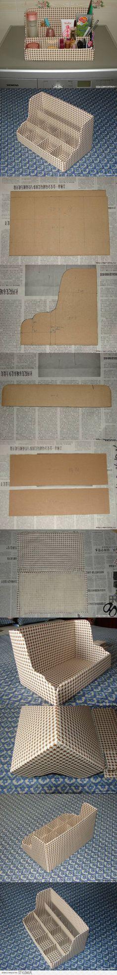 DIY Cardboard Shelves Organizer DIY Projects | UsefulDI… na Stylowi.pl