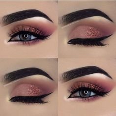 50 Gorgeous Blue Eye Makeup Looks For Day And Evening 2019 – Page 12 of 50 – Chic Hostess – Augen Make Up Gold Eyeliner, Gold Eye Makeup, Eye Makeup Tips, Smokey Eye Makeup, Makeup Goals, Makeup Trends, Makeup Inspo, Eyeshadow Makeup, Makeup Ideas