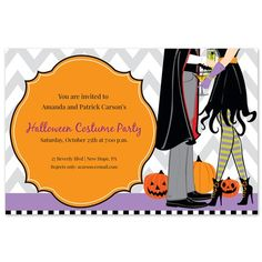 Spooky Couple Invitations by Inviting Company on FineStationery.com