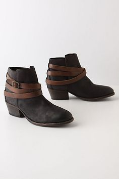 Cincture Booties - Anthropologie.com for long skirts this is the style I want just not this spendy.