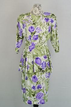 1980s does 1940s  vintage floral dress by 86CharlotteStreet, $45.00