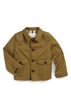 Burberry 'Jakob' Military Jacket (Baby Boys) available at #Nordstrom