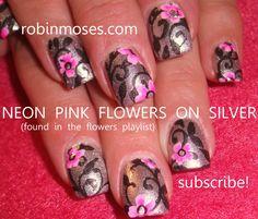 """Robin Moses Nail Art: """"pink and black nails"""" """"pink nails"""" """"black nails"""" """"nail art"""" """"nails"""" """"pink and black design"""" """"diy nails"""" """"diy nail art"""" """"pink damask"""" """"pink and black damask"""" """"pink black and white"""" """"pink bling"""" """"black bling"""" """"divalicious"""" pink black white damask lace fingernails robin moses"""