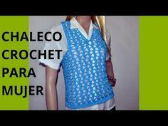 Como tejer un Chaleco Express para mujer en tejido crochet - YouTube