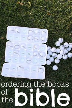 the Books of the Bible with Ping Pong Balls Such a great, hands-on idea for helping kids learn the order of the books of the Bible!Such a great, hands-on idea for helping kids learn the order of the books of the Bible! Sunday School Games, Sunday School Lessons, Sunday School Crafts, School Staff, Bible Study For Kids, Bible Lessons For Kids, Kids Bible, Children's Bible, Bible Verses