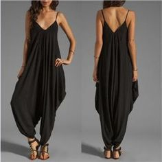 Shop Kami Shade' - Plus Size Bohemian Chic Sleeveless Loose Fit Jumpsuit… Beach Jumpsuits, Long Jumpsuits, Jumpsuits For Women, Casual Playsuits, Rompers Women, Plus Size Bohemian, Look Fashion, Womens Fashion, Fashion 2020