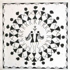 Festivites at a Village - Warli Painting
