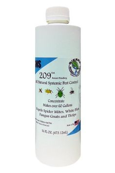 Sierra Natural Science SNS209 Pesticide Concentrate 16 OZ by Sierra Natural Science. $25.95. When an insect starts to suck or chew on the plant it comes in contact with the rosemeric acid and causes the insect to stop eating and move on.. SNS-209's unique formula works by allowing the plant to uptake a small amount of rosemeric acid to build a barrier wall.. This is for a SNS-209 Pesticide Concentrate 16 OZ. Available in 16 OZ and 1 Gallon (1 Gallon is availble in our s...
