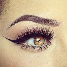 Fab eyeliner! And eyebrows