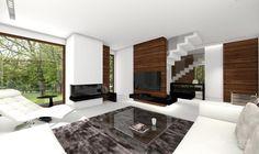 Projekt domu HomeKoncept 7 - zdjęcie od HomeKONCEPT Projekty Domów Nowoczesnych - Salon - Styl Nowoczesny - HomeKONCEPT Projekty Domów Nowoczesnych