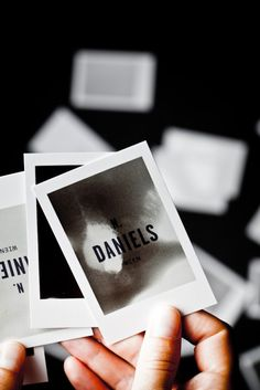 OMG – the most amazing thermo-sensitive branding you've ever seen. Designed for a photo producer by Bureau Rabensteiner (Austria), each piece is a bespoke polaroid with a heat-sensitive, ever changing surface.