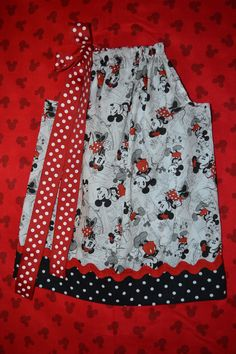 Mickey and Minnie Mouse pillowcase dress Disney Vacation girls