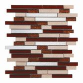 Found it at Wayfair Supply - Upscale Design Random Sized Porcelain, Natural Stone, Metal, Glass, Ceramic Mosaic Tile in Brown, Tan and Silver