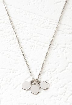 FOREVER 21 Hexagon Charm Necklace