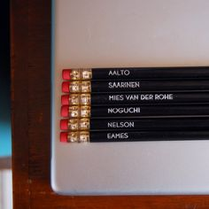 mid century designers pencil set $\6